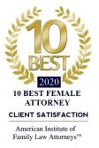 10 best femail attorney award - client satisfaction